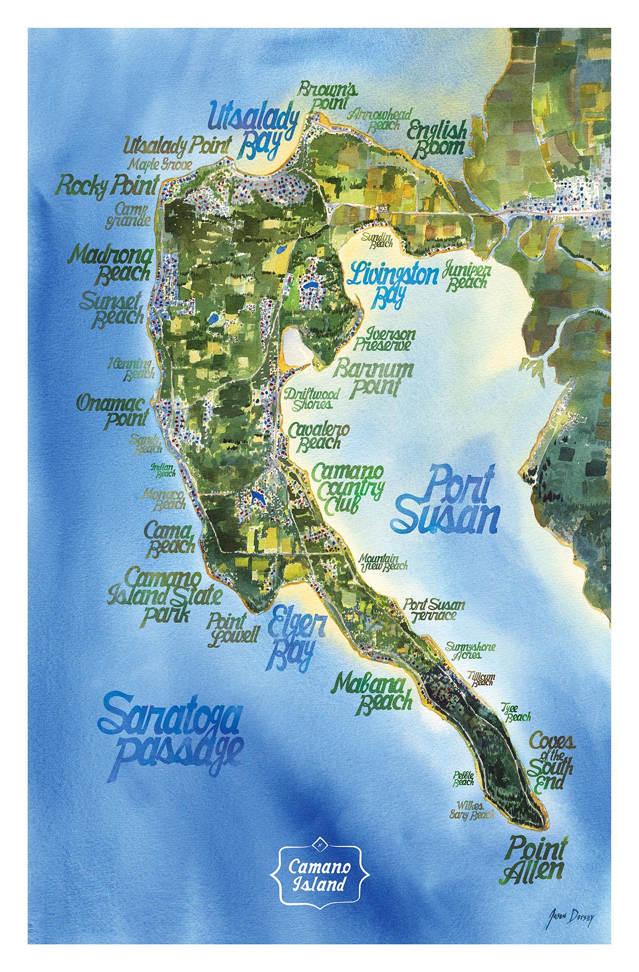 Beaches of Camano Map