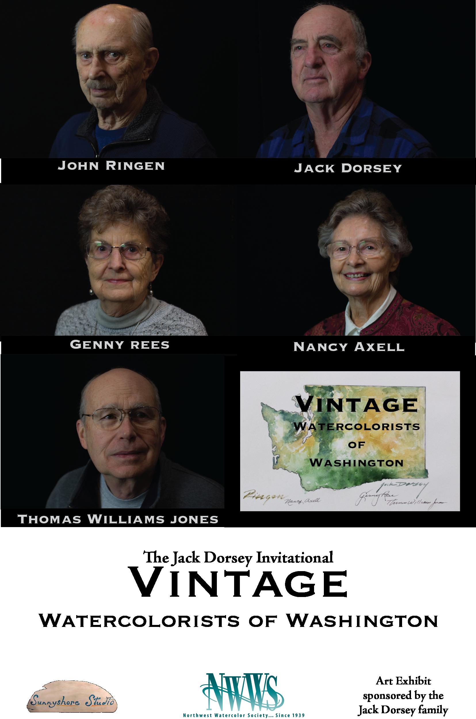 Vintage Watercolorists of Washington Art Show Announcement
