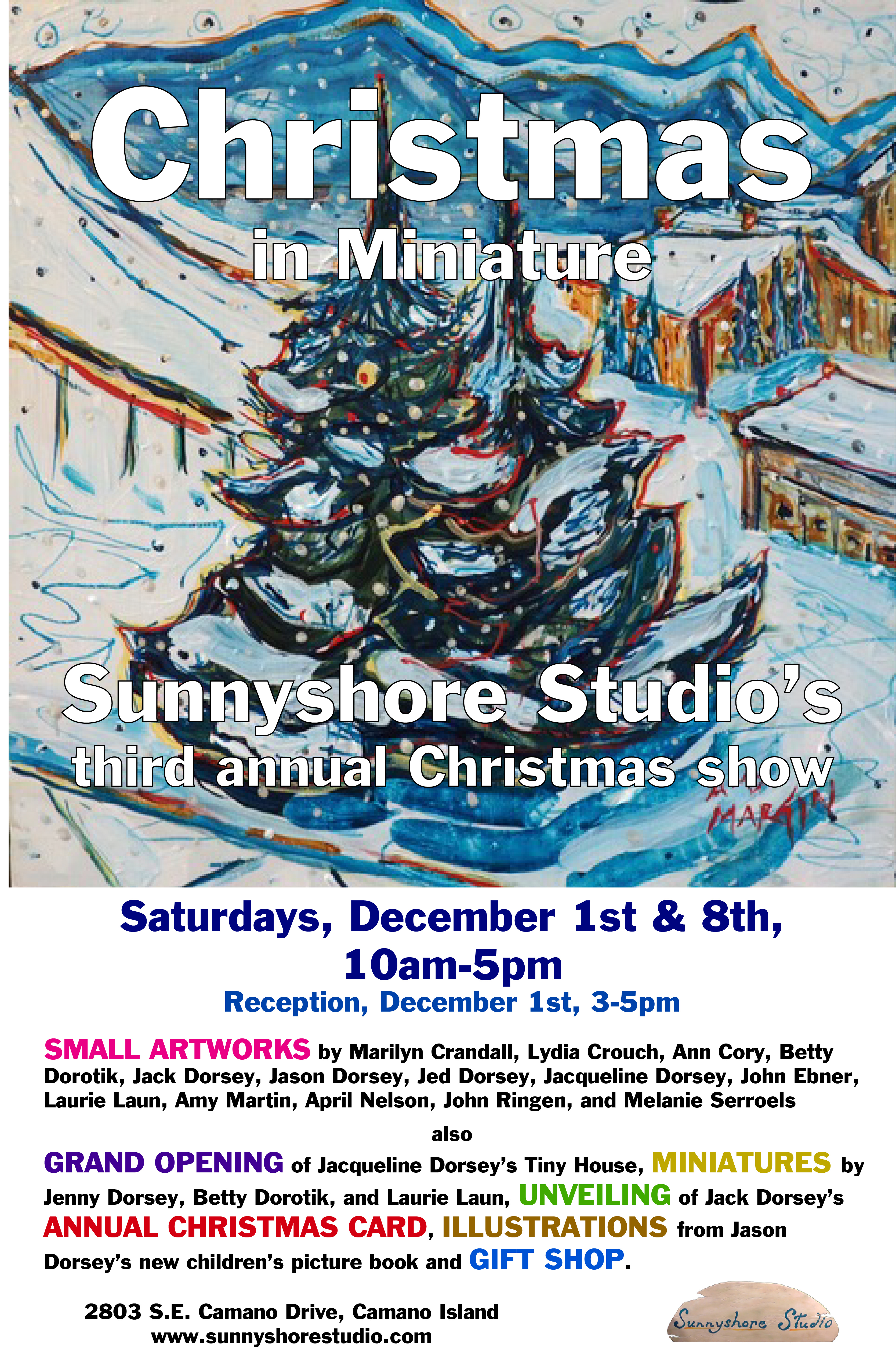 """Lineup of artists for """"Christmas in Miniature"""" show"""