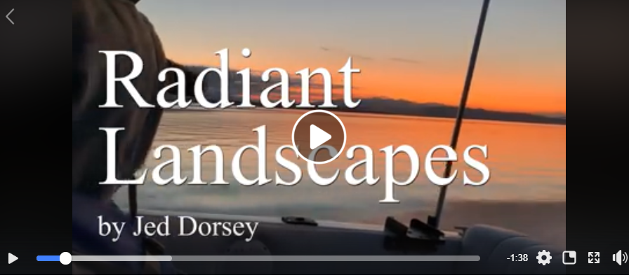 Bad Day of Fishing but we made video invitation to Jed Dorsey's upcoming Radiant Landscapes show