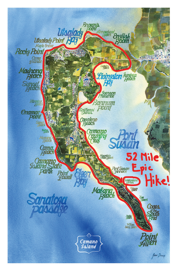 Epic Hike Around Camano Planned