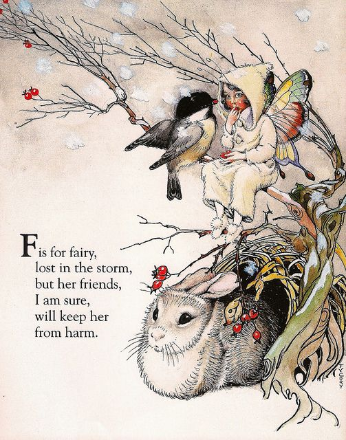 Custom Framed Fairy Lithograph – F is for Fairy
