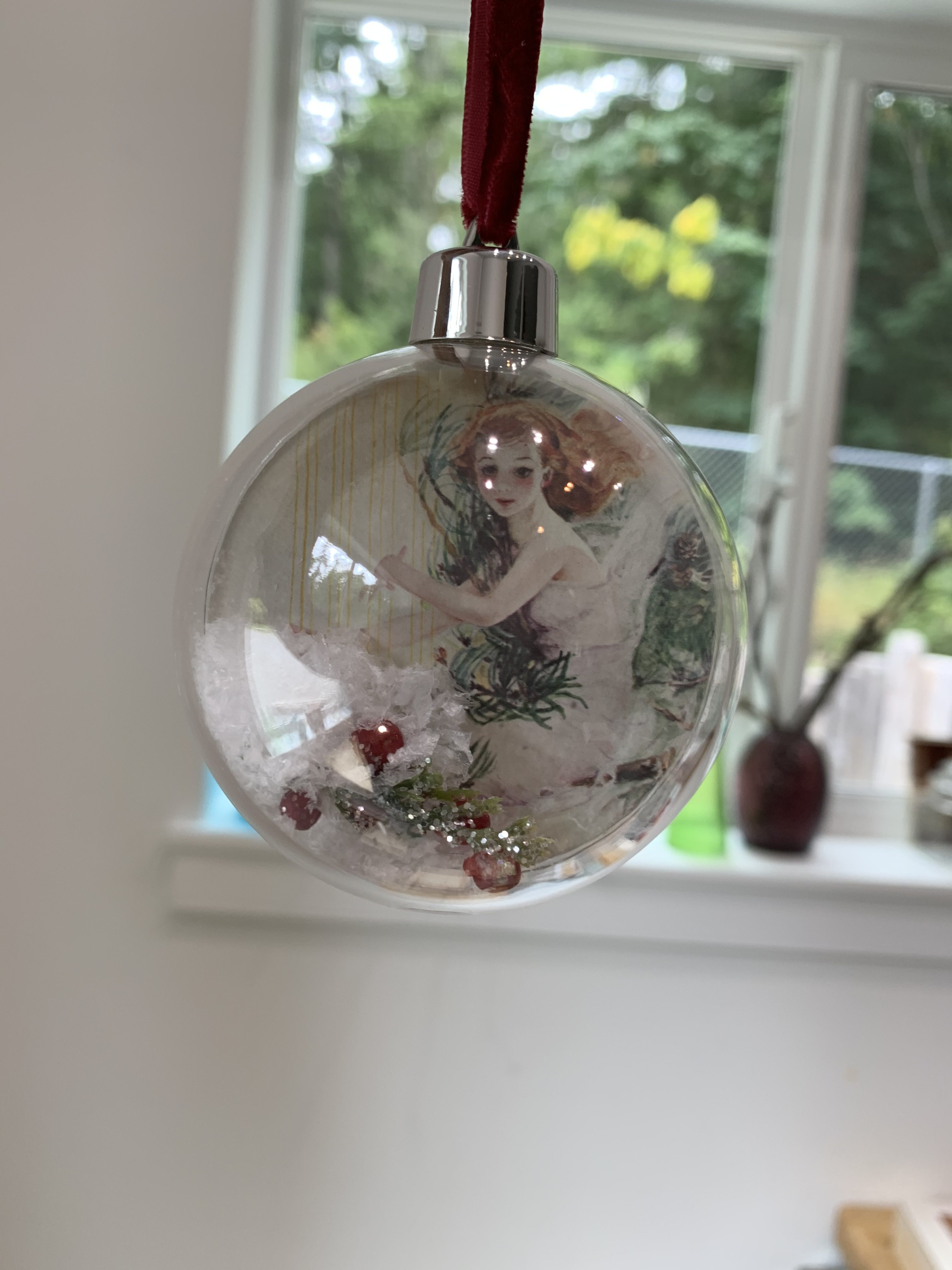 Fairy Ornament Ball – Harp