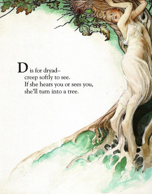 Fairy Alphabet – D is for Dryad