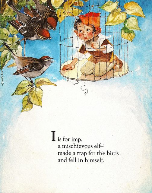 Fairy Alphabet – I is for Imp