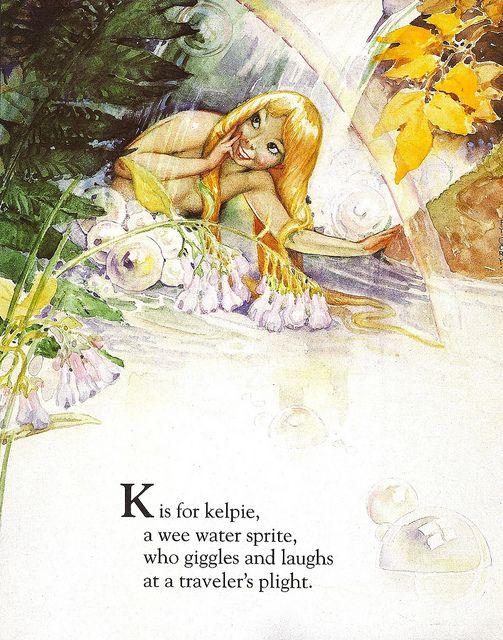 Fairy Alphabet – K is for Kelpie
