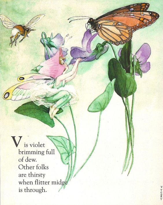 Fairy Alphabet – V is for violet