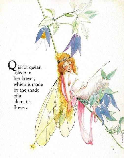 Custom Framed Fairy Lithograph – Q is for Queen