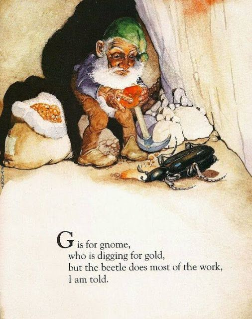 Custom Framed Fairy Lithograph – G is for gnome