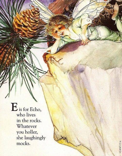 Custom Framed Fairy Lithograph – E is for echo