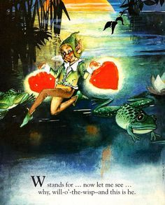 Custom Framed Fairy Lithograph – W stands for Will – O' – the – Wisp